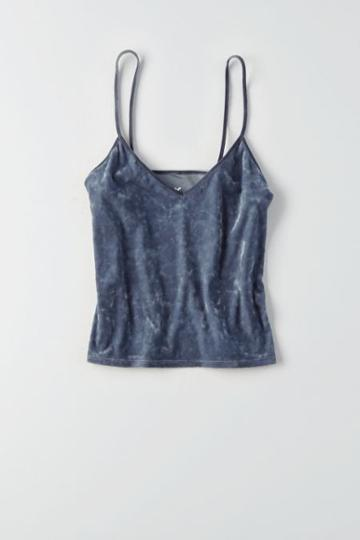 American Eagle Outfitters Ae Crushed Velvet Cami Tank