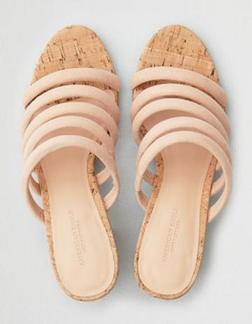 American Eagle Outfitters Ae Strappy Mule Block Heel Sandal