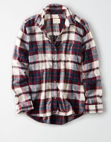 American Eagle Outfitters Ae Ahhmazingly Soft Holiday Bf Plaids