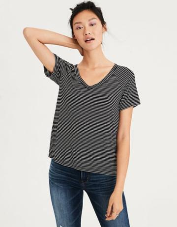 American Eagle Outfitters Ae Soft & Sexy Raglan V-neck Tee