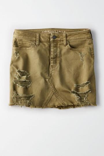 American Eagle Outfitters Ae Vintage Hi-rise Destroyed Skirt