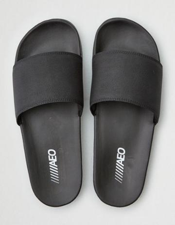 American Eagle Outfitters Ae Black Pool Slide Sandal
