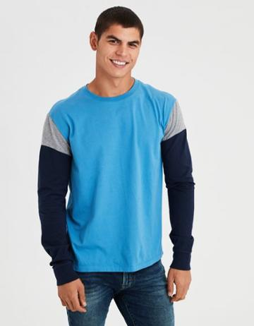 American Eagle Outfitters Ae Long Sleeve Colorblock T-shirt