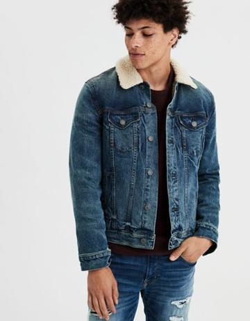 American Eagle Outfitters Ae Sherpa Lined Jean Jacket