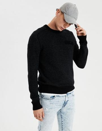 American Eagle Outfitters Ae Chest Pocket Pullover Crew