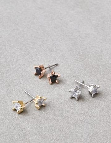 American Eagle Outfitters Ae Star Stone Stud Earrings 3-pack