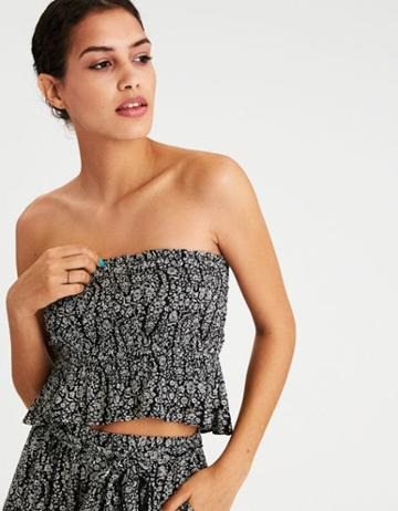 American Eagle Outfitters Ae Smocked Cropped Tube Top