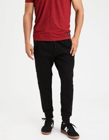 American Eagle Outfitters Ae Mixed Fabric Jogger