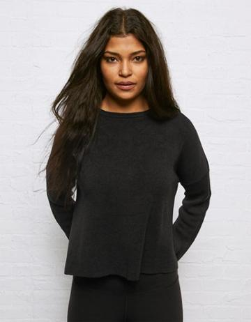 American Eagle Outfitters Don't Ask Why Tie Back Grommet Sweater