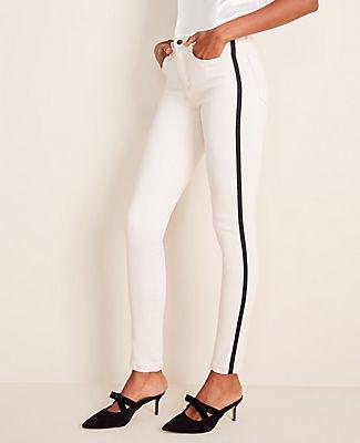 Ann Taylor High Waist Side Stripe Skinny Jeans