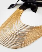 Ann Taylor Multistrand Bow Necklace