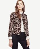 Ann Taylor Spotted Collarless Jacket