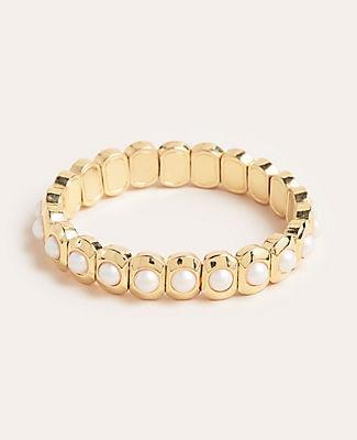 Ann Taylor Pearlized Stretch Bracelet