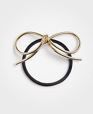 Ann Taylor Metallic Bow Hair Tie