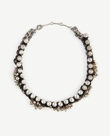 Ann Taylor Ribbon Chain Statement Necklace