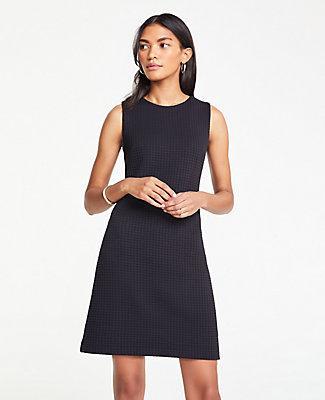 Ann Taylor Waffle Textured Shift Dress
