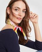 Ann Taylor Diagonal Stripe Silk Scarf