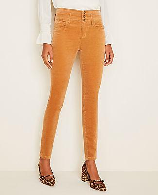 Ann Taylor High Rise 5-pocket Velvet Pants