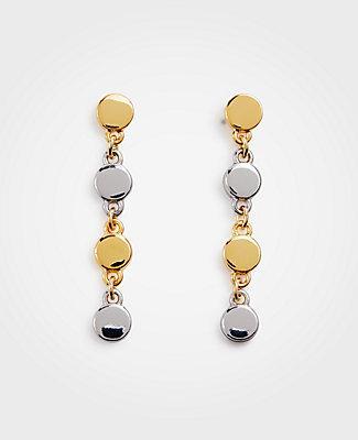 Ann Taylor Metallic Circle Drop Earrings
