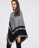 Ann Taylor Colorblock Luxe Poncho