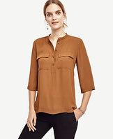 Ann Taylor Collarless Camp Popover