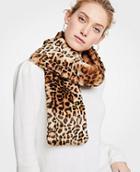 Ann Taylor Spotted Faux Fur Stole