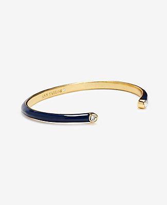 Ann Taylor Navy Enamel Bracelet