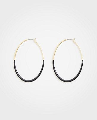 Ann Taylor Covered Hoop Earrings