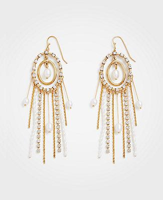 Ann Taylor Oval Pearlized Earrings