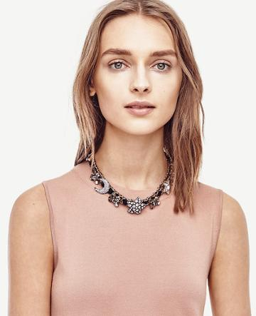 Ann Taylor Star Crystal Statement Necklace