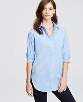 Ann Taylor Striped Oversized Shirt