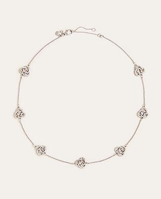 Ann Taylor Knotted Metal Station Necklace