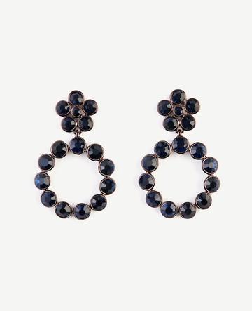 Ann Taylor Round Crystal Circle Drop Earrings