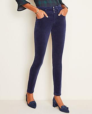 Ann Taylor Velvet High Rise Skinny Jeans