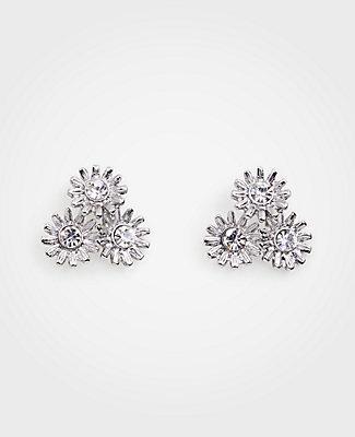 Ann Taylor Metallic Daisy Stud Earrings