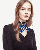 Ann Taylor Zebra Mini Silk Scarf