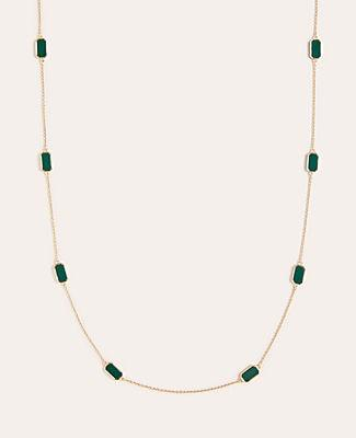 Ann Taylor Rectangle Stone Station Necklace