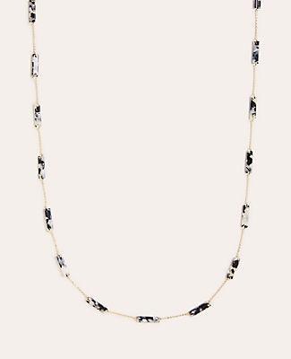 Ann Taylor Tortoiseshell Print Station Necklace