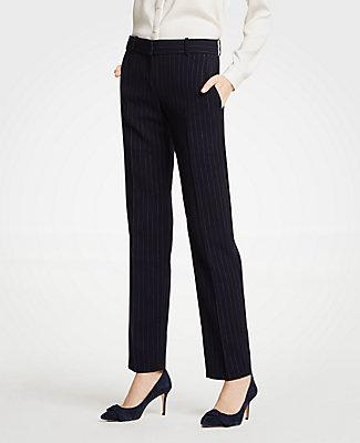 Ann Taylor The Straight Leg Pant In Pinstripe - Classic Fit