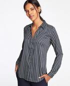 Ann Taylor Striped Essential Shirt