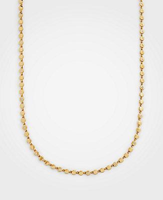 Ann Taylor Metallic Circle Station Necklace