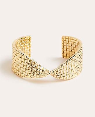 Ann Taylor Basketweave Cuff Bracelet