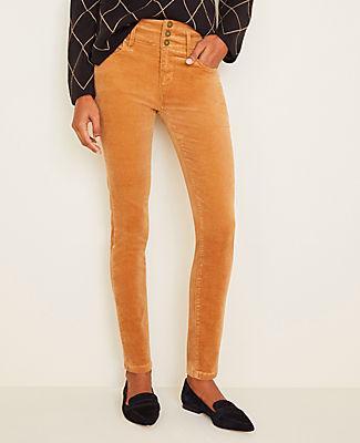 Ann Taylor High Rise 5-pocket Velvet Pants - Curvy Fit