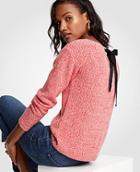 Ann Taylor Marled Tie Back Sweater