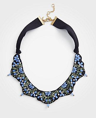 Ann Taylor Beaded Fabric Necklace
