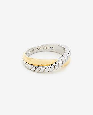 Ann Taylor Twisted Metal Ring