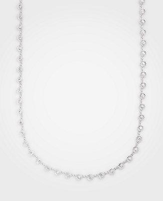 Ann Taylor Metallic Daisy Station Necklace