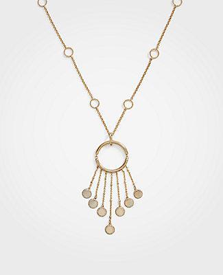 Ann Taylor Disc Pendant Necklace