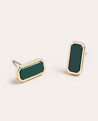 Ann Taylor Rectangle Stone Stud Earrings