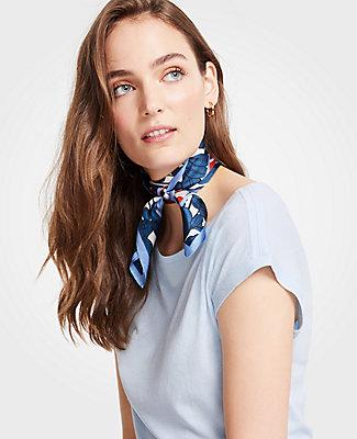Ann Taylor Iris Silk Little Scarf